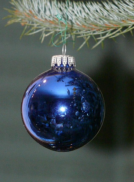Glass Ball Azure Christmas Blue Depend Be continge