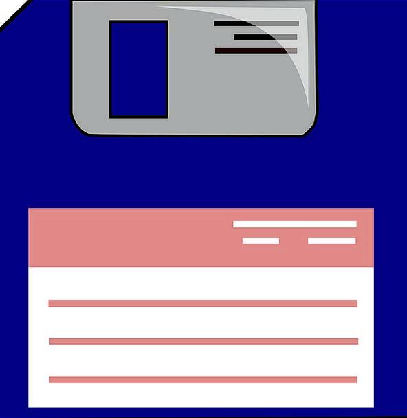 Floppy Disc Label Tag Data Storage Information Bac
