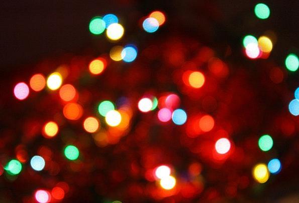 Bokeh Christmas Tree Christmas Lights Ornaments Kn