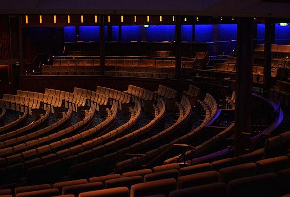 Concert Hall Seats Dark Dim Chairs Furniture Equip