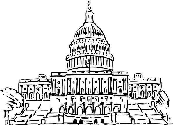 Capitol Buildings Structure Architecture Sketch Dr