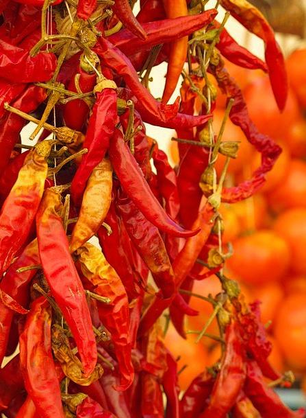 Chili Paprika Pepperoni Spice Interest Colorful Re