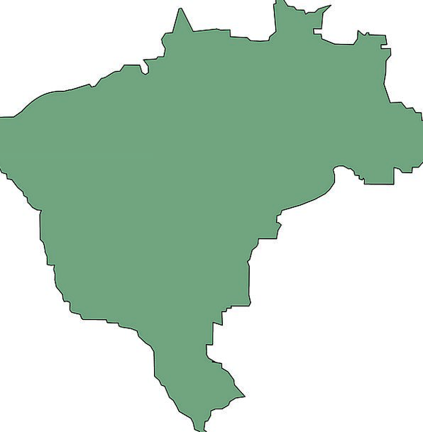 Brazil Chart South America Map Country Republic Fr