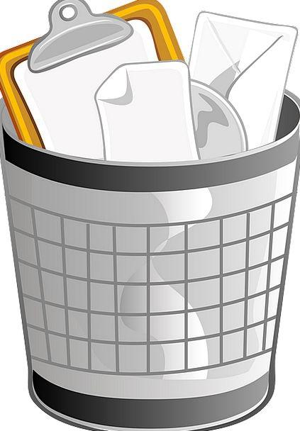 Trash Can Rubbish bin Receptical Wastebasket Metal