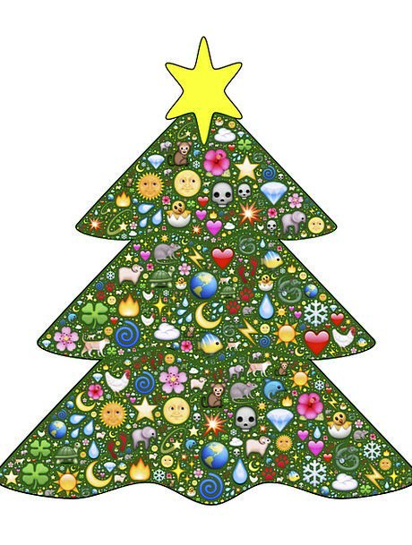 Christmas Tree Lime Emoji Green Decorative Decorat