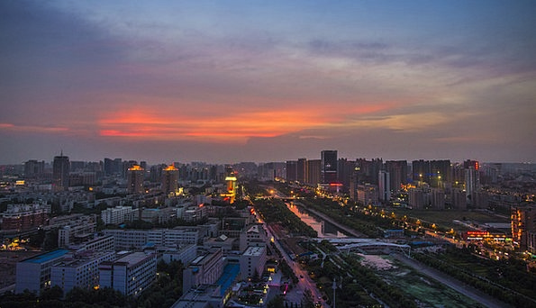 Zhengzhou Vacation Illuminations Travel Sunset Sun