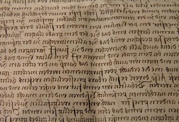 Old German Script Old Letter Handwriting Excerpt E