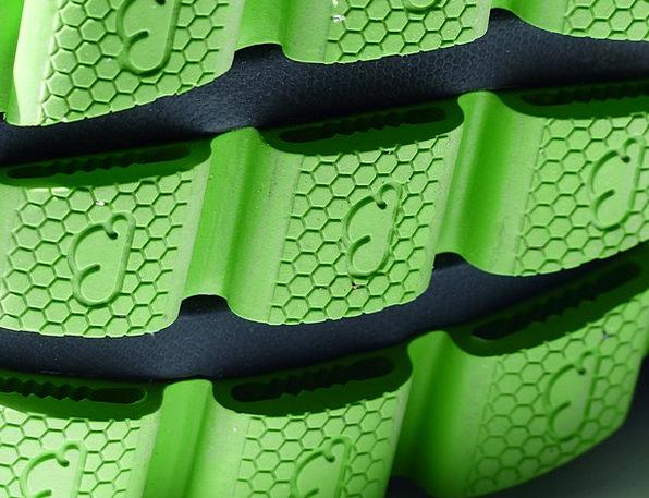 Sole Only Lime Rubber Neoprene Green Marathon Shoe