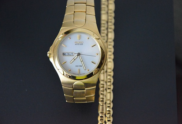 Watch Timepiece Excellent Man Gentleman Golden Jew
