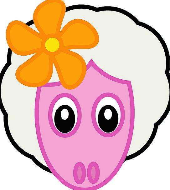 Sheep Ewe Floret Lovely Beautiful Flower Animal Ph