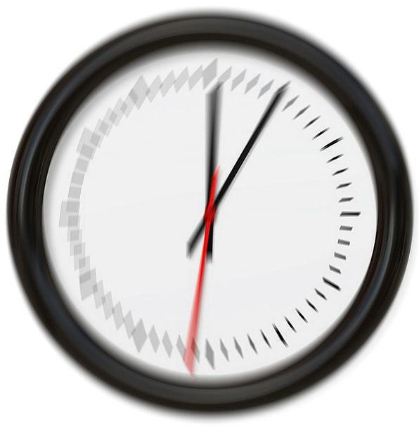 Clock Timepiece Cane Blurry Fuzzy Pointer Proverb
