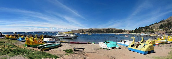 Copacabana Vacation Travel Paddle Oar Lake Titicac