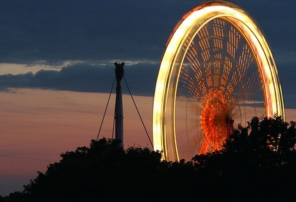 Ferris Wheel Long Exposure Olympic Park Party Year