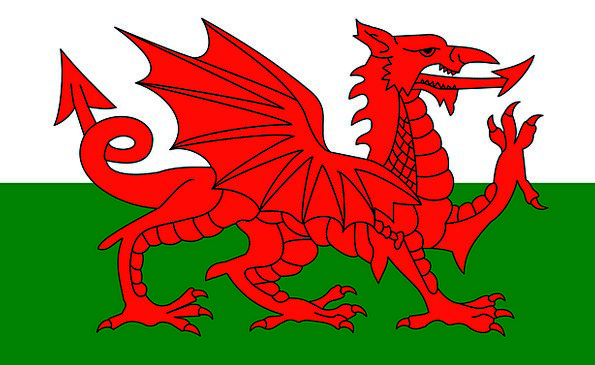Wales Standard Country Republic Flag Uk United Kin