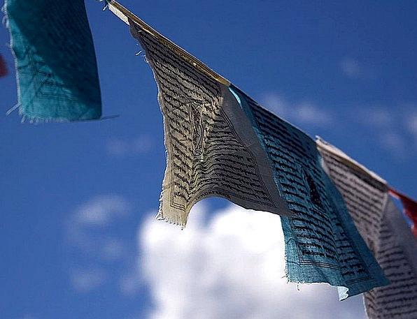 Prayer Entreaty Streamers Breeze Waft Flags Tradit