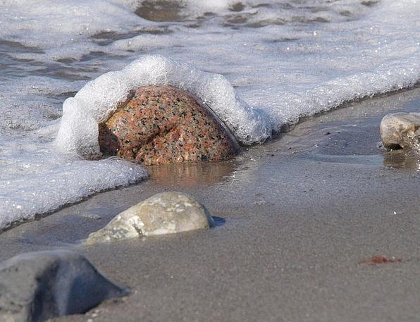 Sea Marine Pebble Foam Froth Stone Sand Shingle