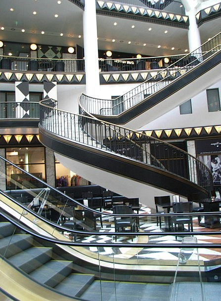 Shopping Arcade Mall Buildings Architecture Stairs
