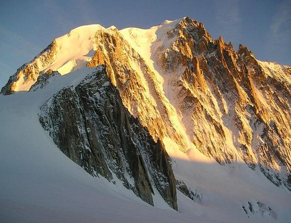 Icy Channel Chamonix Mont Blanc Du Tacul Alpine Mo