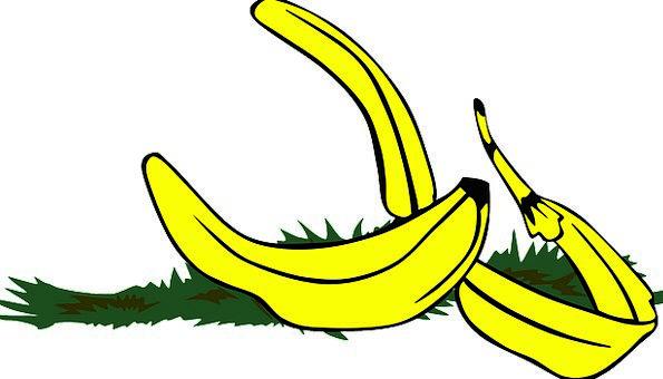 Banana Drink Skin Food Slippery Greasy Peel Tread