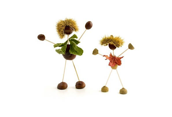 Conker Acorn Conkers Leaves Acorns Autumn Figure F