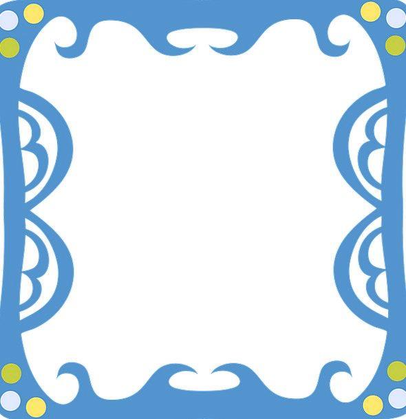 Funky Rhythmic Edge Ornate Frame Dots Decorative O