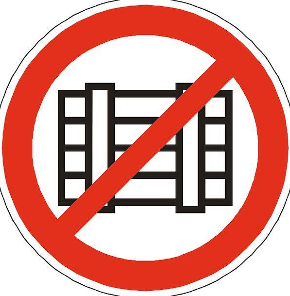 Storing Storage Insertion Prohibited Placing Forbi