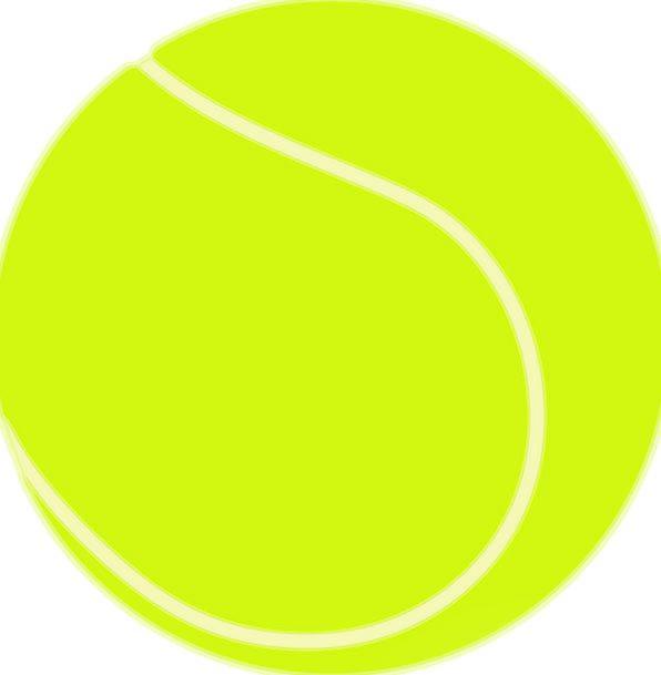 Tennis Ball Diversion Yellow Creamy Sport Free Vec