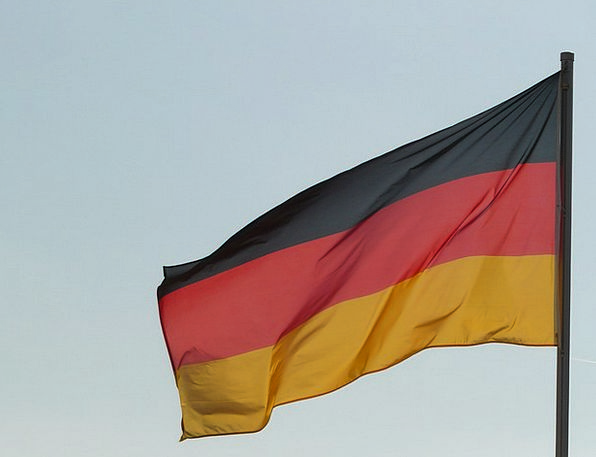 Flag Standard German Flag Germany Wind Breeze Blow