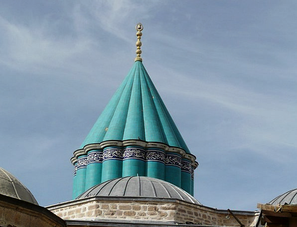 Mosque Rooftop Blue Azure Roof Konya Ornaments Mau