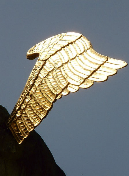 Wing Annex Seraph Gold Gilded Angel Metal Metallic