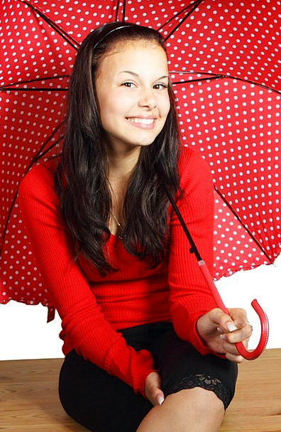 Color Hue Attractive Face Expression Cute Umbrella