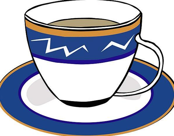 Tea Drink Mug Saucer Bowl Cup Stimulant Blue Azure