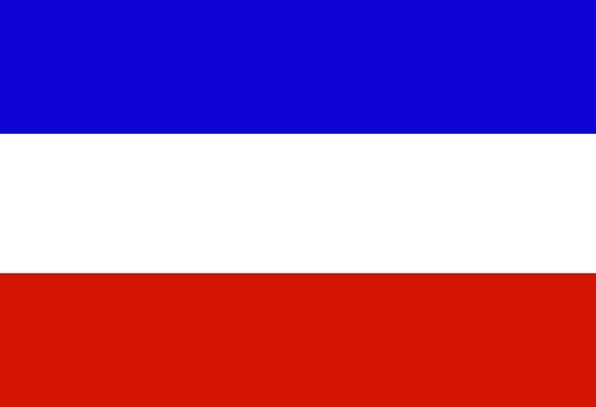 Serbia Standard Simplified Basic Flag Free Vector