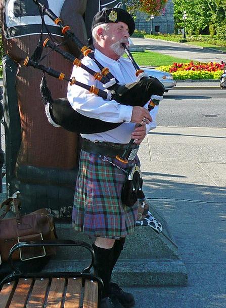 Bagpiper Person Being Scottish Victoria British Co