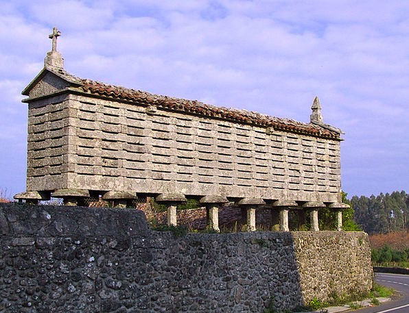 Galician Horreo Horrio Hórreo Corn And Wheat Barn