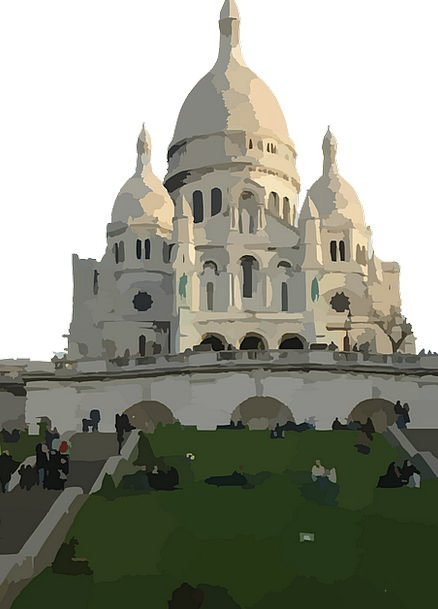 Sacre Coeur Basilica Cathedral Free Vector Graphic