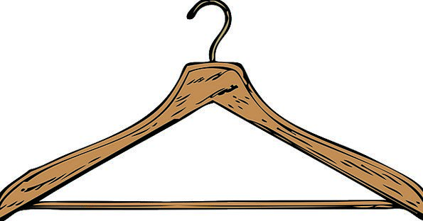 Hanger Hook Timber Brown Chocolate Wooden Clothing
