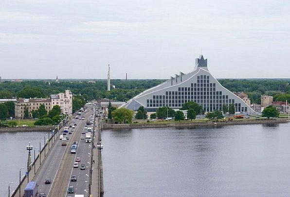 Riga Stone Bridge Latvia National Library