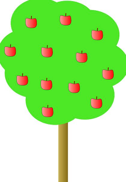 Apple Sapling Apples Tree Red Bloodshot Free Vecto