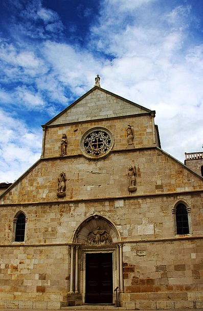Church Ecclesiastical Pebble Pag Stone Croatia Mar