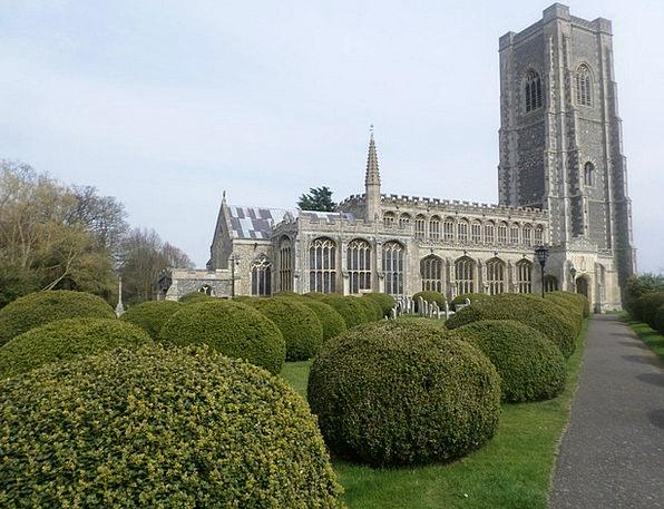 Lavenham Church Church Ecclesiastical Cathedral Ye
