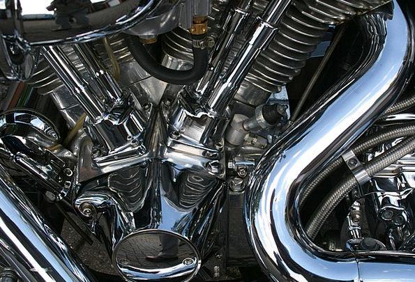 Motorbike Bike Train Superbike Engine Chrome