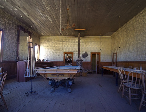 Ghost Town Wild West Bodie Usa Old Leave Billiards
