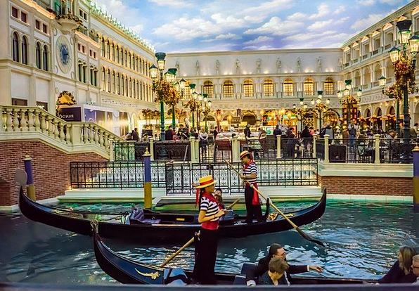 Venetian Buildings Architecture Gondolas Las Vegas