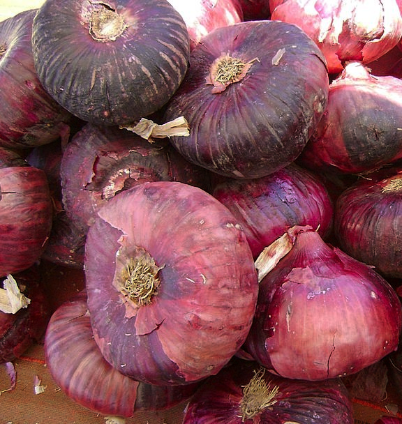 Onions Bloodshot Vegetables Potatoes Red Natural O