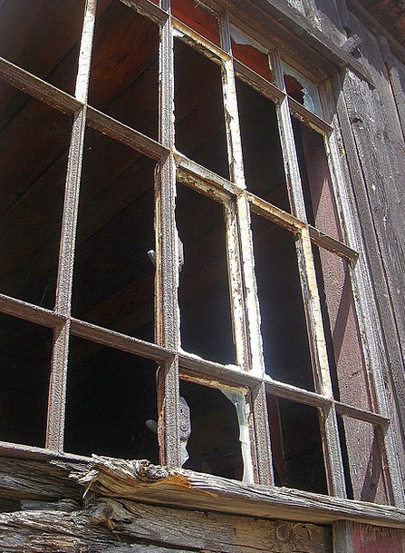Window Gap Ancient Old Building Old Wooden Timber
