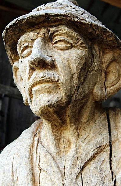 Wood Head Wood Carving Character Head Craft Man Ge