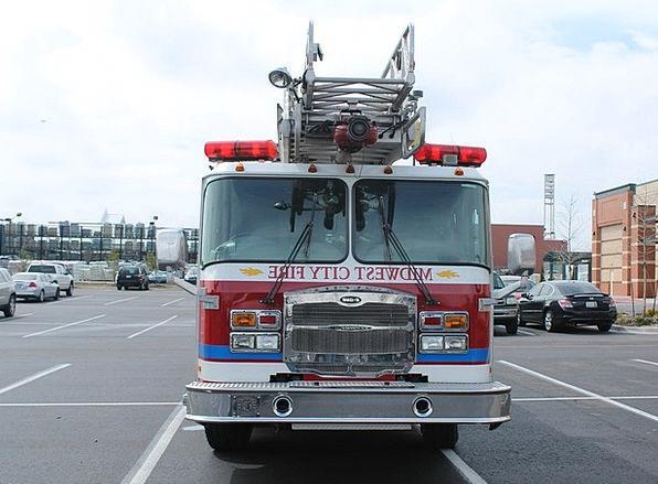 Midwest City Traffic Transportation Fire Truck Okl