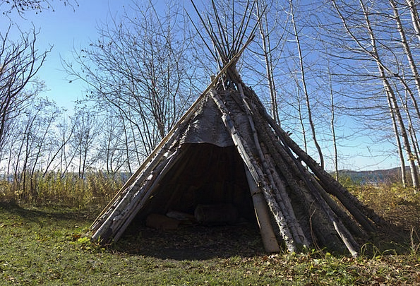 Teepee Buildings Architecture Birch Bark Indian Wh & Teepee Buildings Architecture Birch Bark Indian White ...