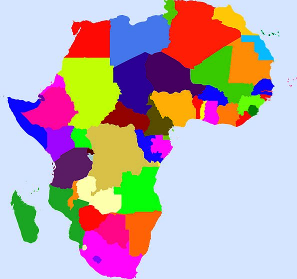 Map Chart Continent Landmass Africa Countries Repu